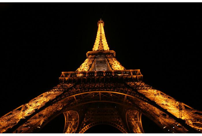 Модульная картина Эйфелевая башня ночью