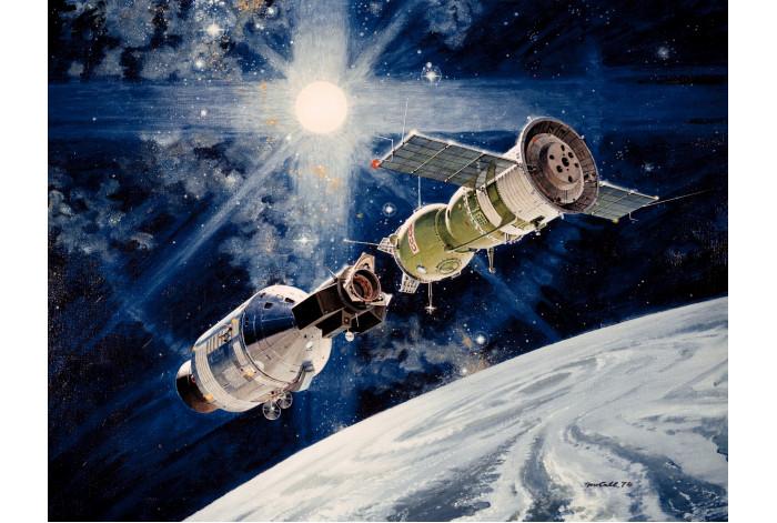 Модульная картина Космический корабль СССР