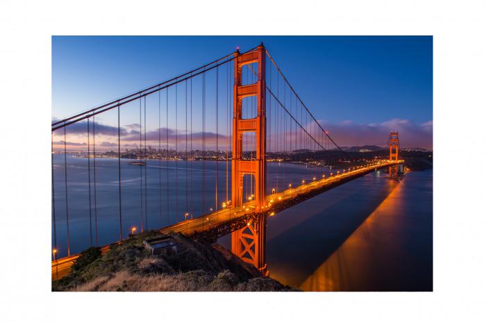 Фотокартина в интерьер Золотой мост