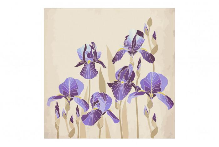 Картина Светло-фиолетовые ирисы