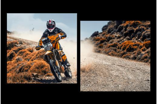 Модульная картина Мотоцикл гоночный